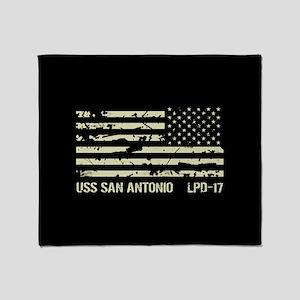 USS San Antonio Throw Blanket