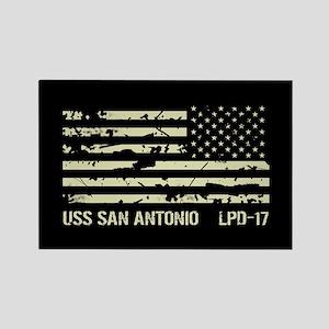 USS San Antonio Rectangle Magnet