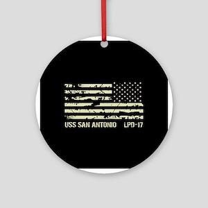 USS San Antonio Round Ornament
