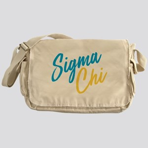 Sigma Chi Brush Messenger Bag