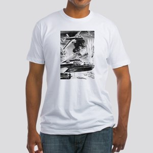 B-25 WW II Illustration Fitted T-Shirt