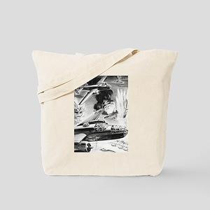 B-25 WW II Illustration Tote Bag