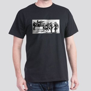 B-25 Crew Walking to Bomber Black T-Shirt