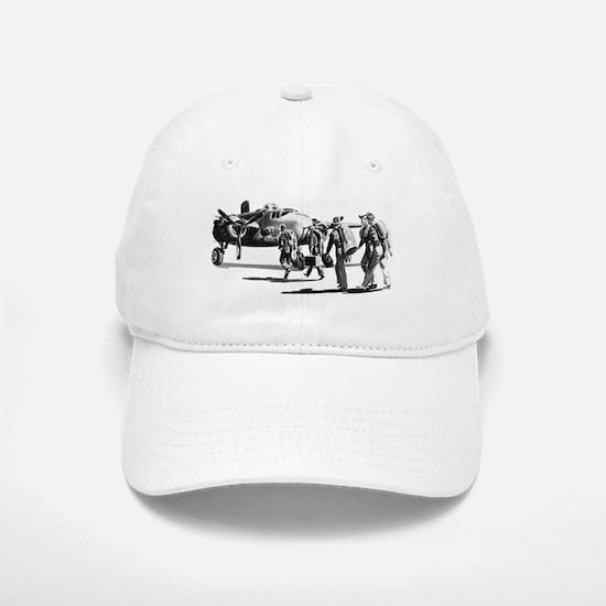 B-25 Crew Walking to Bomber Baseball Baseball Cap
