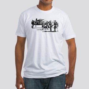 B-25 Crew Walking to Bomber Fitted T-Shirt