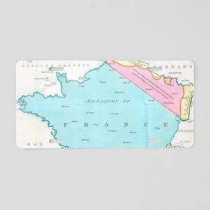 Vintage Map of France (1793 Aluminum License Plate