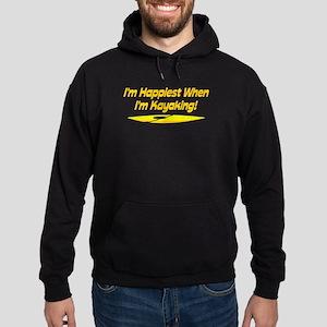 I'm Happiest When I'm Kayaking Hoodie (dark)