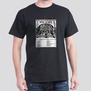 B-25 Pilot's Compartment Black T-Shirt