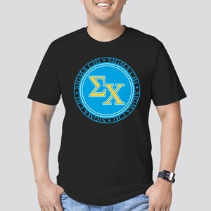 Sigma Chi Circle Men's Fitted T-Shirt (dark)