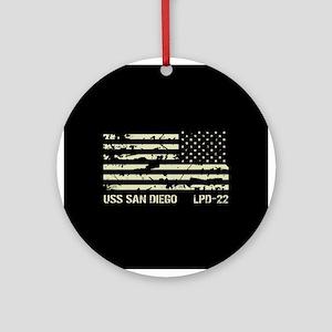 USS San Diego Round Ornament