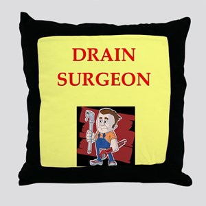 plumber joke Throw Pillow