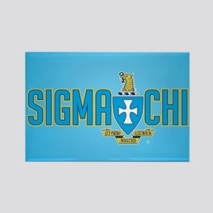 Sigma Chi Crest Rectangle Magnet