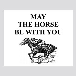 thoroughbred horse racing Small Poster