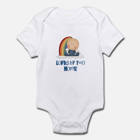 Loved by Two Moms GAY Infant Bodysuit