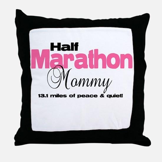 Half Marathon Mommy Peace Qui Throw Pillow