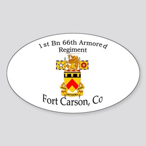 1st Bn 66th AR Sticker (Oval)