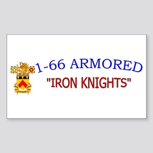 1st Bn 66th AR Sticker (Rectangle)