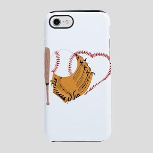 I Love Baseball, Bat & Mit iPhone 7 Tough Case