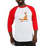 I Love Kids (Kangaroo)  Baseball Jersey
