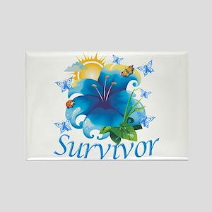 Survivor Flower Rectangle Magnet