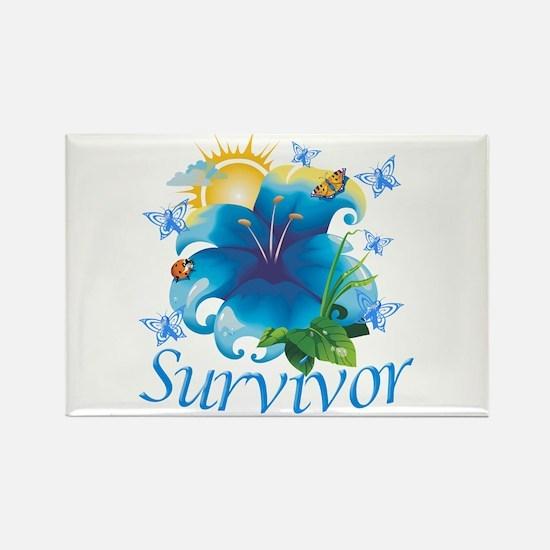 Survivor Flower Rectangle Magnet (10 pack)