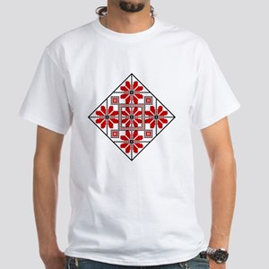 Folk Design 6 White T-Shirt