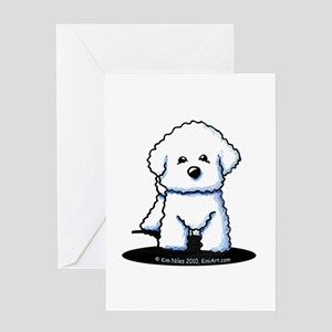 Bichon Frise II Greeting Card