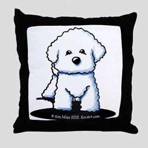 Bichon Frise II Throw Pillow