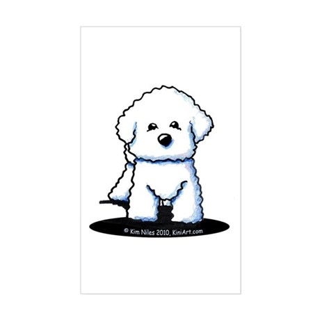 Bichon Frise II Sticker (Rectangle)
