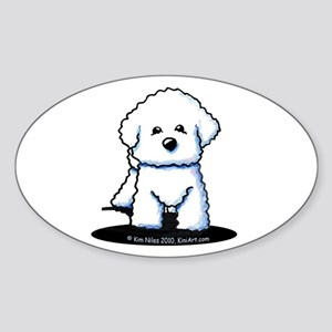 Bichon Frise II Sticker (Oval)
