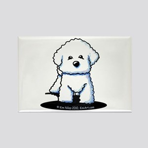 Bichon Frise II Rectangle Magnet