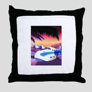 Seaplane Throw Pillow