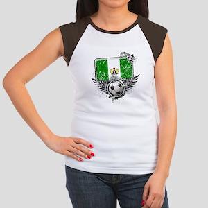 Soccer Fan Nigeria Women's Cap Sleeve T-Shirt