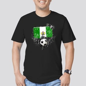 Soccer Fan Nigeria Men's Fitted T-Shirt (dark)