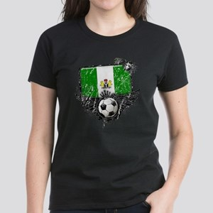 Soccer Fan Nigeria Women's Dark T-Shirt