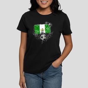 Soccer Fan Nigeria Women's Dark T-Shirt
