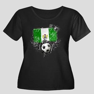 Soccer Fan Nigeria Women's Plus Size Scoop Neck Da