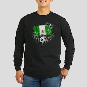 Soccer Fan Nigeria Long Sleeve Dark T-Shirt