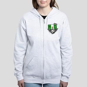 Soccer Fan Nigeria Women's Zip Hoodie