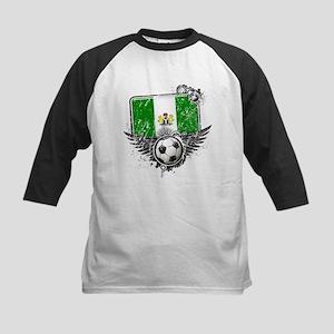 Soccer Fan Nigeria Kids Baseball Jersey
