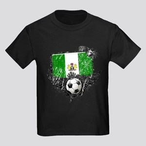 Soccer Fan Nigeria Kids Dark T-Shirt