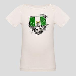 Soccer Fan Nigeria Organic Baby T-Shirt