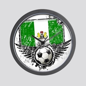 Soccer Fan Nigeria Wall Clock