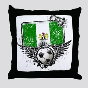 Soccer Fan Nigeria Throw Pillow