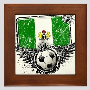 Soccer Fan Nigeria Framed Tile