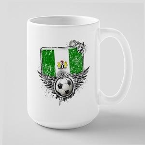 Soccer Fan Nigeria Large Mug
