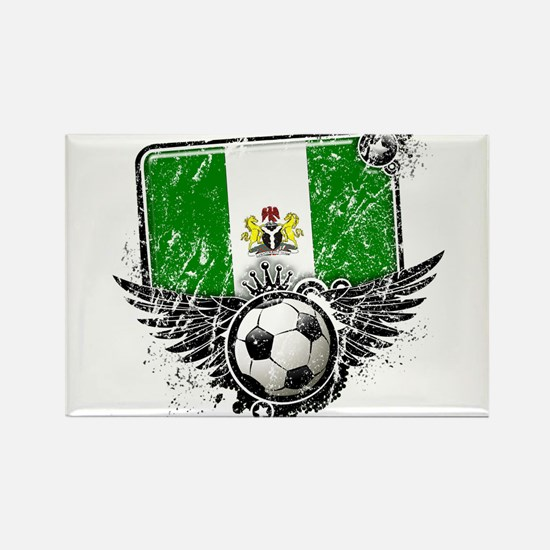 Soccer Fan Nigeria Rectangle Magnet