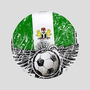 """Soccer Fan Nigeria 3.5"""" Button"""