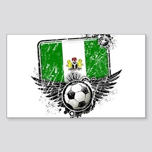 Soccer Fan Nigeria Sticker (Rectangle)