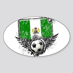 Soccer Fan Nigeria Sticker (Oval)